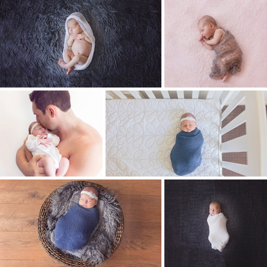 Facebook newborn collage